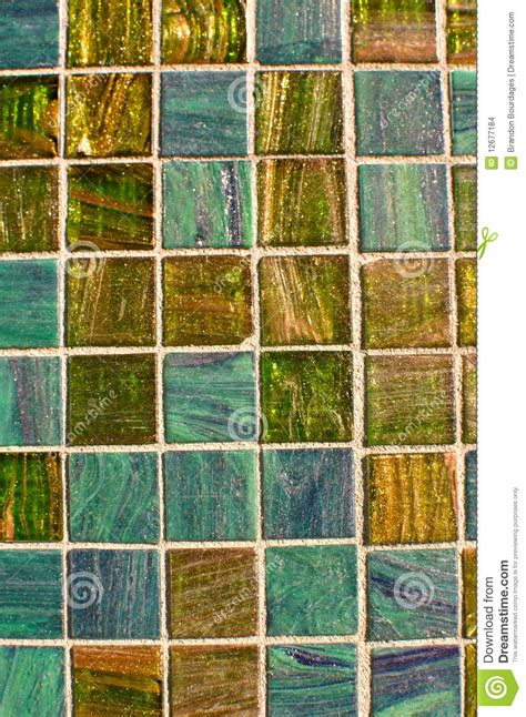 Blue And Green Multi Color Tile Mosaic Stock Images