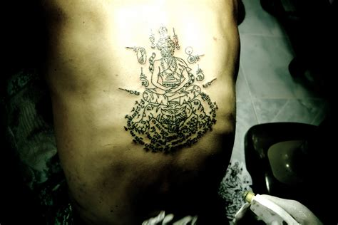 thai tattoo my muay thai sak yant traditional thai