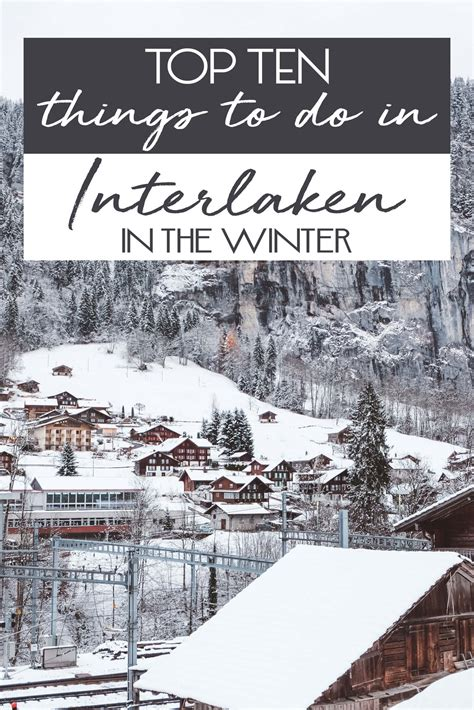 10 Things To Do With In Winter by Top Ten Things To Do In Interlaken In The Winter The