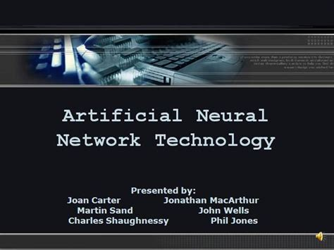 Artifical Neural Network Authorstream Neural Network Ppt Template Free