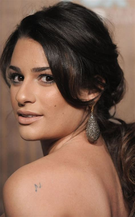 lea michele sarfati tattoos pictures images pics photos