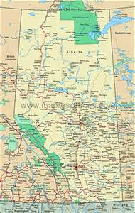 alberta canada map with cities map of alberta national parks