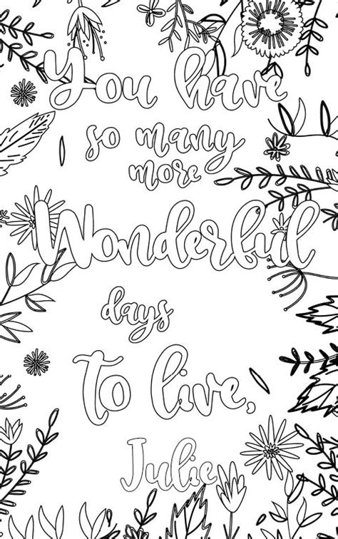 Julie is wonderful. The coloringbook personalised with