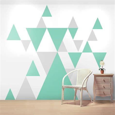 geometric pattern giant wall sticker set  oakdene designs notonthehighstreetcom