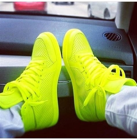 lime green sneakers shoes neon like green sneakers high top sneakers