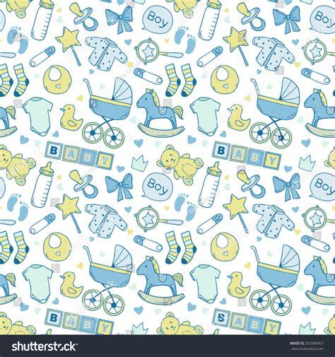 cute pattern passwords bright baby boy pattern cute newborn stock vector