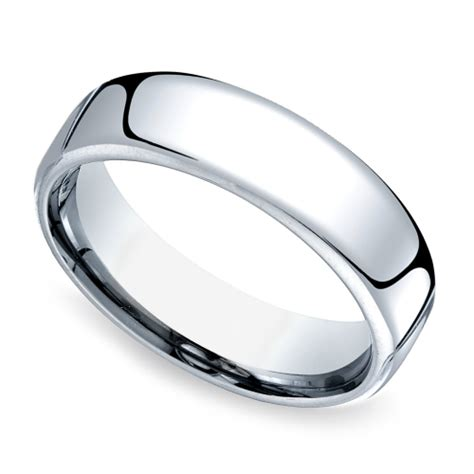 mens comfort fit wedding rings comfort fit men s wedding ring in cobalt 6 5mm