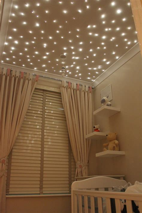 Starry Lights Ceiling For A Starry Ceiling Consider Fiber Optic Lights 7 Ways To Top Your Nursery Popsugar