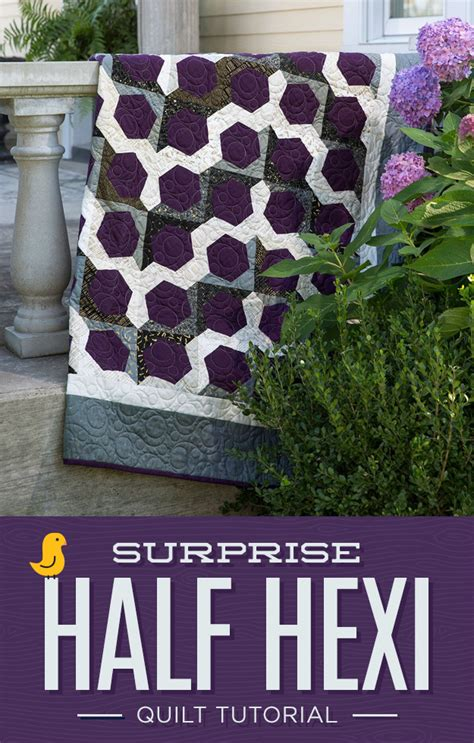 Half And Half Quilt by New Friday Tutorial Half Hexi The Cutting