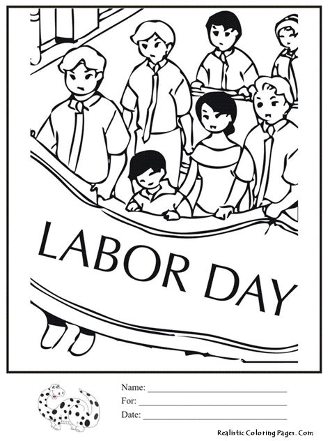 labor day book coloring pages