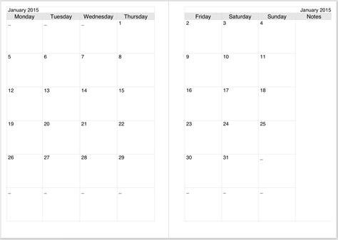 a5 calendar template a5 monthly calendar 2016 printable calendar template 2016