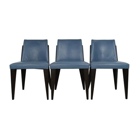 Potocco Sedie by 90 Potocco Potocco Blue Leather Dining Chairs Chairs
