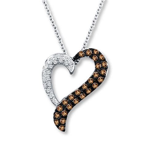 jared levian chocolate diamonds 1 3 ct tw necklace 14k