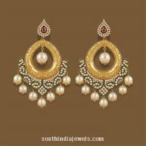 chandbali earrings gold chandbali earrings from tbz south india jewels