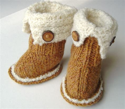 baby knitted ugg boots free knitting patterns baby ugg boots