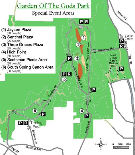 Garden Of The Gods Trail Map Garden Of The Gods Weddings Colorado Springs