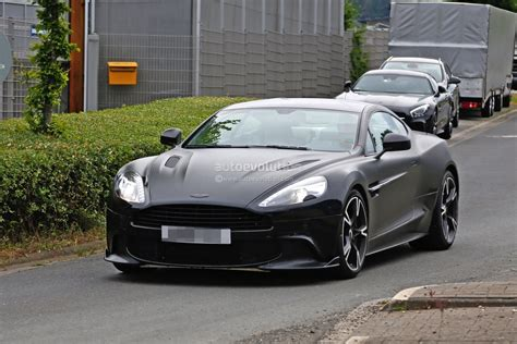 first aston martin 2018 aston martin vanquish s spied for the first time