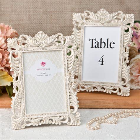 gold table number frames vintage ivory picture table number frame with brushed
