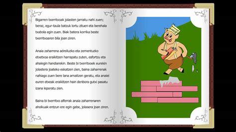 cuentos clasicos infantiles hiru txerritxoak cuentos cl 225 sicos infantiles en euskera