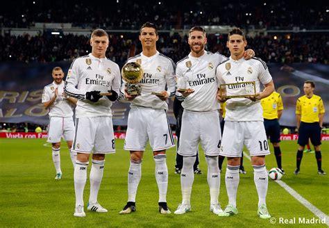 imagenes de real madrid 2015 siete jugadores del real madrid nominados al bal 243 n de oro
