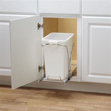 sink garbage can track household essentials cabinet single sliding trash