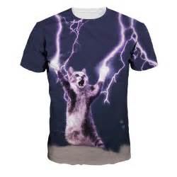 Lightning Cat Sweatshirt T Shirt Shirt Unisex Kitten Lightning Cat Laser Cats