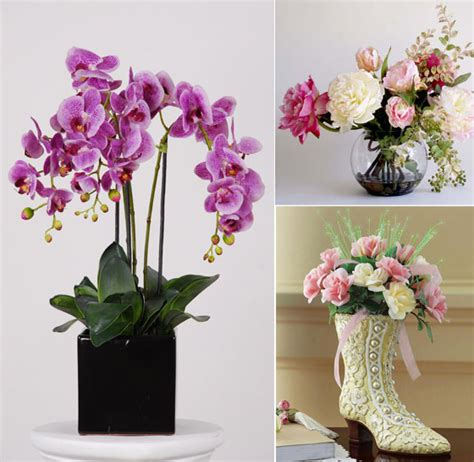 home decoration flowers beautiful artificial silk flowers arrangements for home decoration design swan