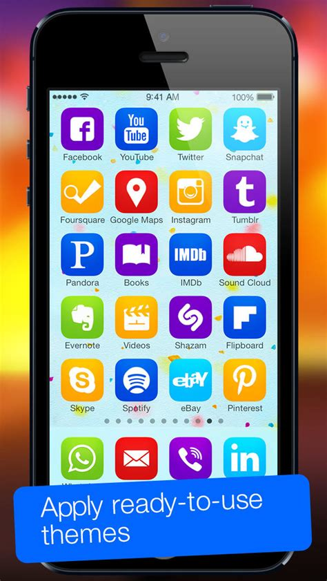 home screen themes apps app icons for ios 7 home screen icons skins frames