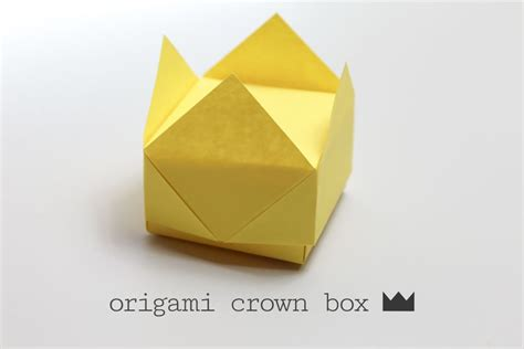 How To Make A Origami Box Easy - easy origami crown box
