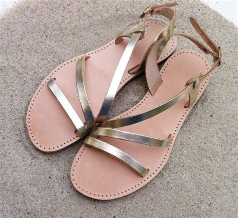 Gold Bridesmaid Sandals by Leather Sandals Shoes Gold Sandals Wedding