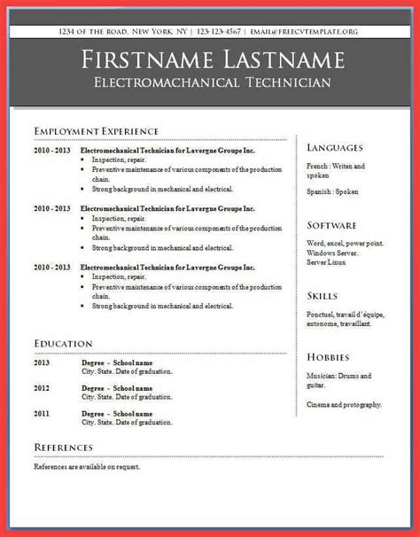 Resume Template For Word 2010 by Microsoft Word 2010 Resume Templates Resume Ideas