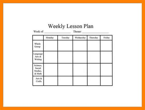 7 Editable Weekly Lesson Plan Template Gcsemaths Revision Editable Weekly Lesson Plan Template