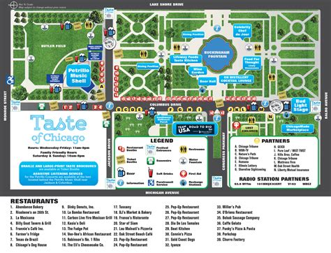 chicago map dogs city of chicago taste of chicago map