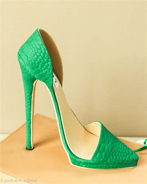emerald green high heels emerald green high heel shoe box cake the shoe is made