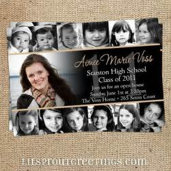 collage style graduation announcement invitation print your own pictures of style and pictures