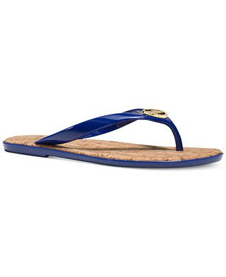 Ready Mk Jelly michael michael kors mk jet set jelly flat sandals