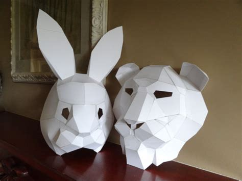 A Mask Out Of Paper - pdf pattern make your own mask rabbit mask instant