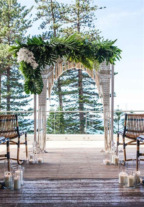 Wedding Arch Sydney by Overlooking Manly In Sydney Beachside Wedding