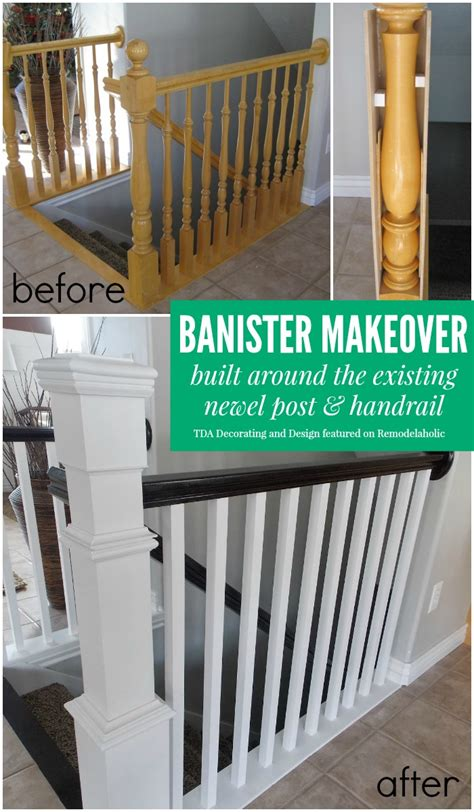 banister remodel remodelaholic stair banister renovation using existing