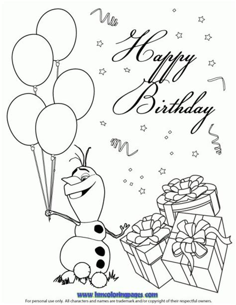 disney happy birthday coloring page 10 images about disney frozen birthday coloring pages on