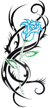 tattoo in gallery tribal blue rose tattoos