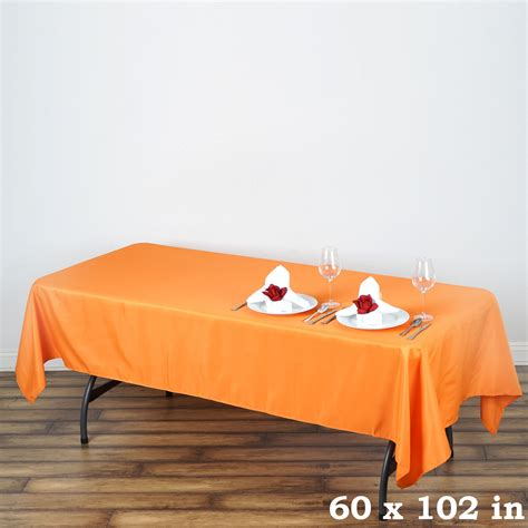 tablecloth on rectangular table 60x102 quot polyester rectangular tablecloth wedding catering