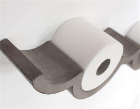 Etagère porte papier toilette en béton