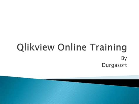 qlikview tutorial ppt qlikview online training by durgasoftware solutions in