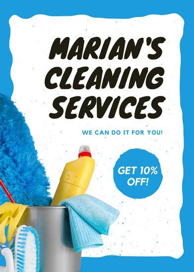 Customize 167 Cleaning Flyer Templates Online Canva Cleaning Company Flyer Template