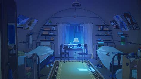 wallpaper anime room everlasting summer bedroom night wallpaper no
