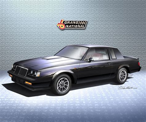 buick grand national poster 1985 buick grand national print poster by danny whitfield