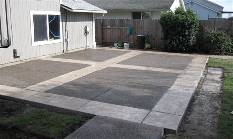 Backyard Cement Patio Ideas Square Concrete Patio Images Landscaping Gardening Ideas