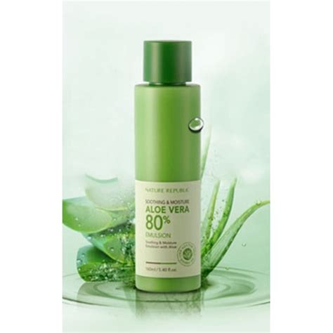 Nature Republic Soothing Moisture Aloe Vera Emulsion Review nature republic soothing moisture aloe vera 80 emulsion
