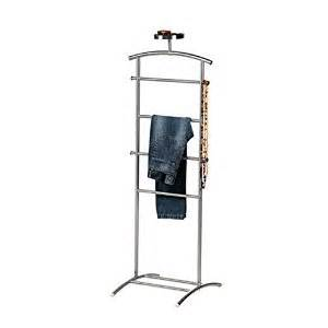 luxury stainless steel bedroom valet stand with hooks and